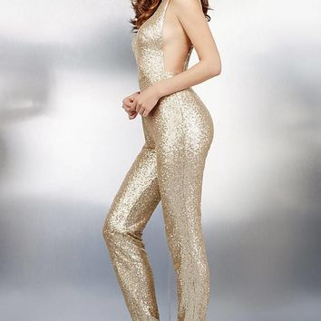 Gold Embellished Jumpsuit 37552