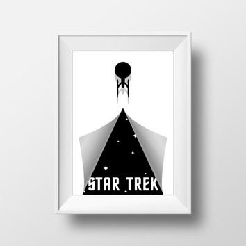 Star Trek Poster, Movie Poster. Enterprise Peel Print, Visual Effects Poster