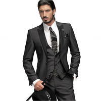 Free shipping  wedding suit Jacket Western Style Man Suit  Peaked Lapel One Button Wedding Dresses For Man Groomsmen Tuxedos