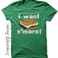 I Want Smore Shirt, Kids Camping Shirt, Toddler Smores Shirt, Boys Camping Birthday Tshirt, Mens Hiking Clothes, Toddler Camp Shirt Campfire