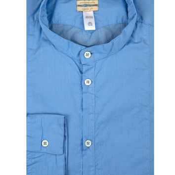 Massimo Alba Light Blue Stand Collar Shirt