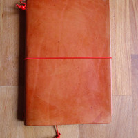 Leather Travel Notebook Sketchbook or Journal Classic Cover