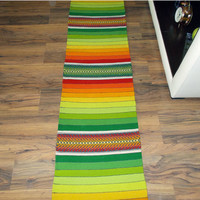 Striped handwoven rug, colorful striped rug, handwoven wool rug, striped floor rug, boho rug, rug runner, striped rug runner