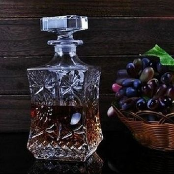 1PC 500ml 800ml Wine Whisky Bottle Crystal Wine Glass Bottle Vodka Jar Jug Wine Decanter Bar Tool J1091