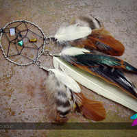 ritual // feather dreamcatcher necklace