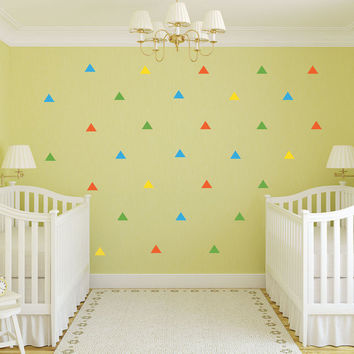 Triangle Wall Decals - Geometric Decal - Vinyl Decals - nursery decor - nursery decals - boys room wall decal - girls room decor