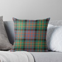 'BOWIE ANCIENT TARTAN' Throw Pillow by IMPACTEES