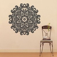 Mantra Om Yoga Mandala Wall Decal Vinyl Sticker Wall Decor Home Interior Design Art z368