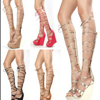Sky High Gladiator Wedge Sandals 5 Colors