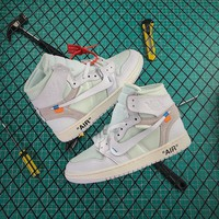 OFF WHITE x Air Jordan 1 Retro High OG White - Best Online Sale