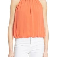 Alice + Olivia 'Maris' Gathered Halter Top | Nordstrom