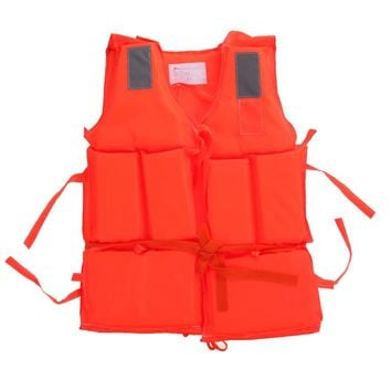 Adult Polyester Safety Life Jacket Fishing Vest Universal Swimming Underwater Drifting Boating Ski Surfing Vest With Whistle