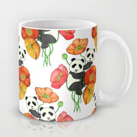 Poppies & Pandas Mug by micklyn