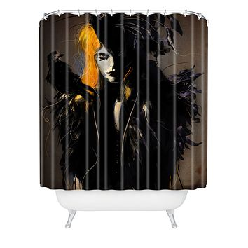 Deniz Ercelebi Crow Shower Curtain