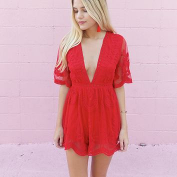 Enchanted Lace Romper