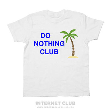 Aesthetic Do Nothing Club Shirt