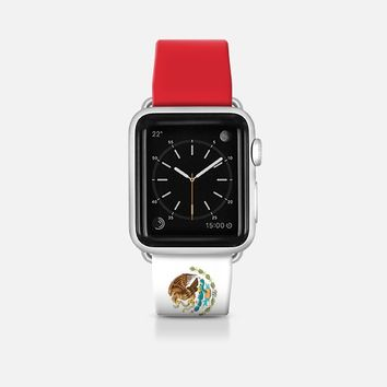 Mexico flag - Patriot collection Apple Watch Band (42mm)  by WAMDESIGN | Casetify