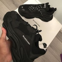DCCKIN2 Balenciaga Triple S Runner Triple Black UK 9 EU 43