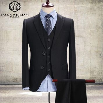 (Jacket+Pants+Vest) two Button Shawl Lapel Suit Custom Made