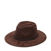 Faux Suede Fedora