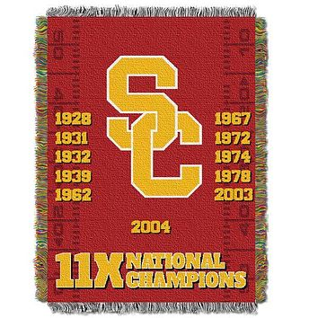 "USC Trojans NCAA Commemorative 48""x 60"" Woven Tapestry Throw"