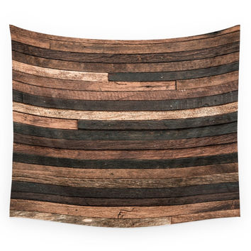 Society6 Vintage Wood Plank Wall Tapestry