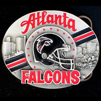 Atlanta Falcons NFL Enameled Belt Buckle