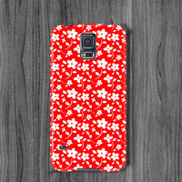 Floral  galaxy s6 edge case Samsung s6 case s5 mini case galaxy  note 4 case red  note 3 case s4 case galaxy s5 case samsung s3 case