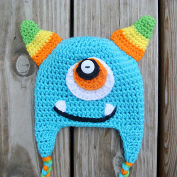 Crochet Monster Hat (FREE SHIPPING)