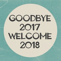 welcome merry Christmas 2017 goodbye 2017 welcome 2018 happy new year