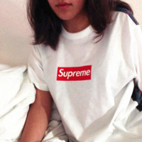 Fashion SUPREME  man women hot sale sweatshirt top white more color