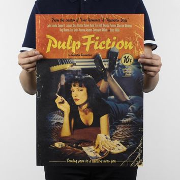 Pulp Fiction / Classic Movie Poster retro Kraft / Bar Cafe decorative posters vintage 51x35.5cm