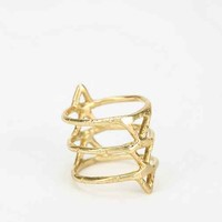 Odette New York Freya Spine Ring- Gold 7