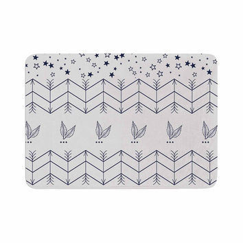 "Famenxt ""Tribal Arrows Jungle Stars"" Gray Pattern Memory Foam Bath Mat"