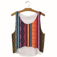 Summer Womens Boho Printed Show Hilum Tank Top Slim Sports Vest Gift - 47