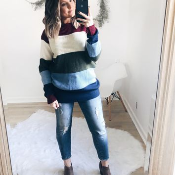 Adaline Colorblock Knit Sweater