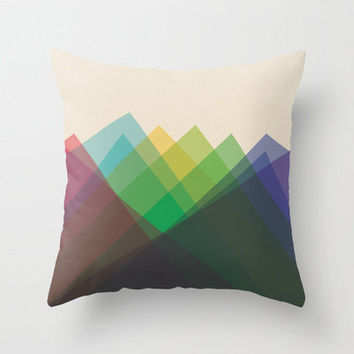 """16""""x16"""" Colorful Geometric Triangle Throw Pillow COVER ONLY"""