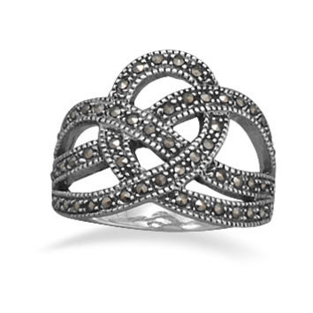 Marcasite Crown Design Ring