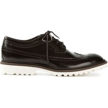 DSQUARED2 contrast sole brogues
