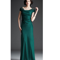 Mignon 2013 Fall Dresses - Spruce Embellished Draped Gown