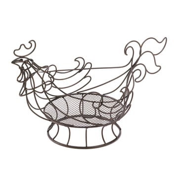 Zingz & Thingz Rooster Wire Kitchen Basket