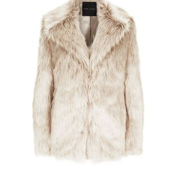 Cream Faux Fur Coat | New Look