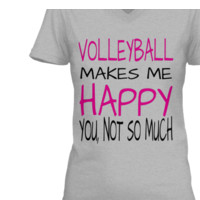 VOLLEYBALL MAKES ME HAPPY TEE