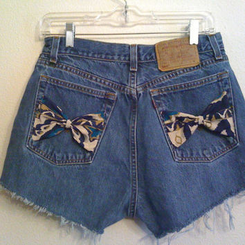 tribal aztec High Waisted Shorts 30 inches