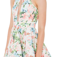 Gone Baby Blue Floral Dress
