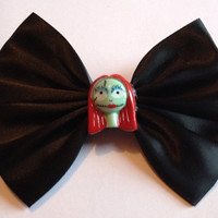 Black Satin The Nightmare Before Christmas Hair Bow Hairbow Jack and Sally Goth Gothic Emo Tim Burton