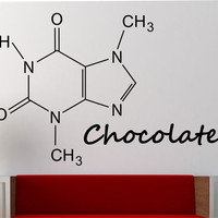 Chocolate Molecule Wall Decal Vinyl Sticker Art Decor Bedroom Design Mural education science educational geek nerd teach creative art