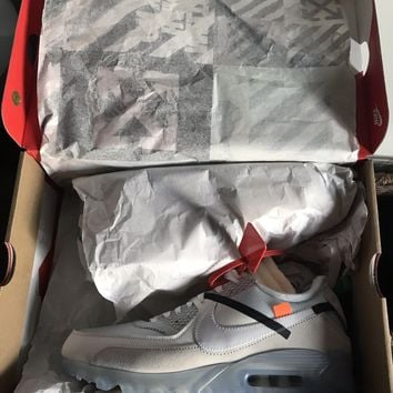 "OFF WHITE X Nike Air Max 90 ""ICE"" The Ten Size 10 Virgil Abloh Complexcon"