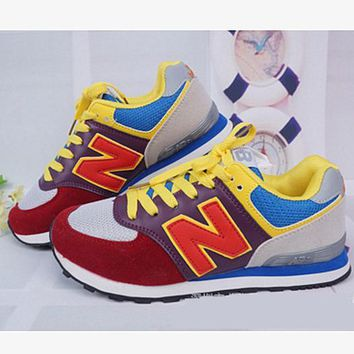 New balance abric is breathable n leisure sports Couples forrest gump running Yellow-red