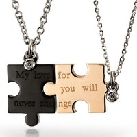 My love for u will never change Necklace for Couple